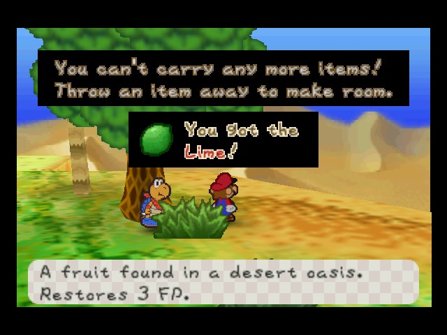 Paper Mario - Misc  - Now put it in the coconut - User Screenshot